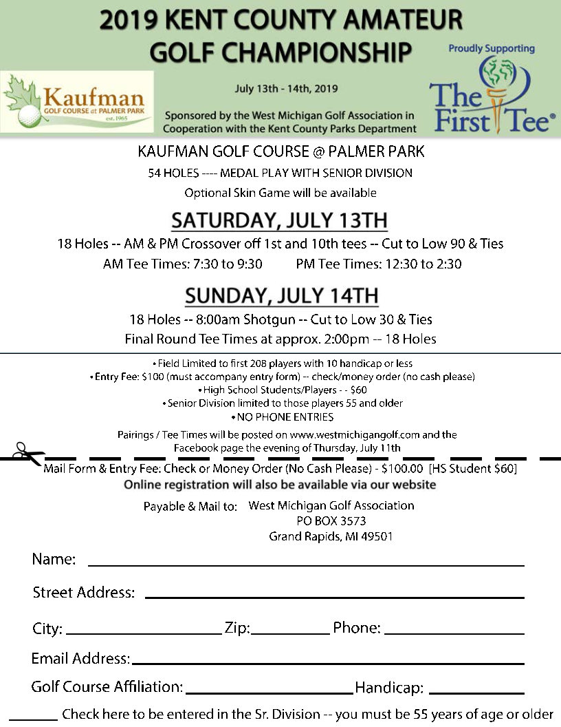 Kent county amateur golf tournament